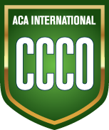 Green badge for ACA International CCCO certification