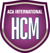 Purple badge for ACA International HCM certification