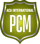 Green badge for ACA International PCM certification
